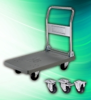 Cens.com HO CASTER INDUSTRIAL CO., LTD. Industrial 300kg Folding Stainless Steel Trolley Cart